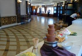 Шоколадные фонтаны на творческом вечере Ларисы Рубальской